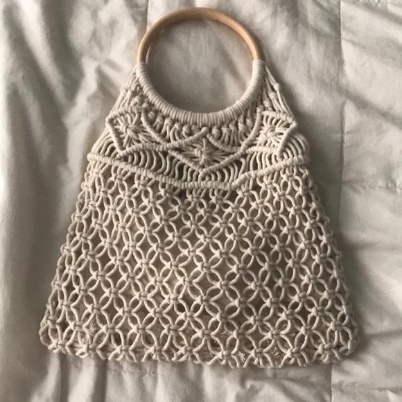 American Eagle Outfitters Handbags - Boho Wooden Handle Bag